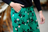 Green Flower Pants