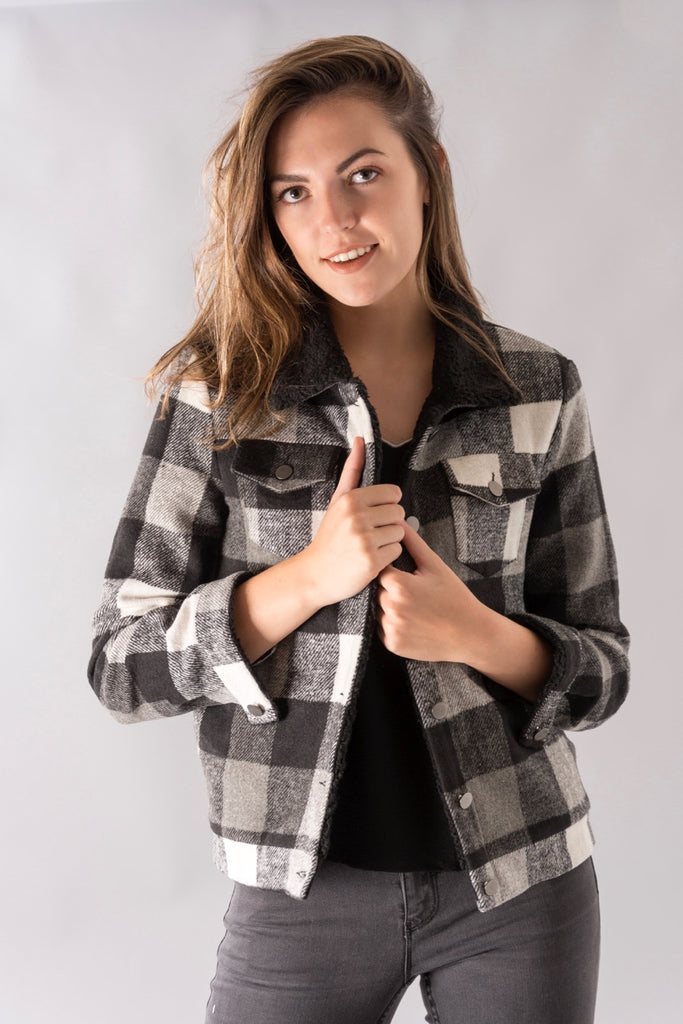 Black&White Checkered Jacket