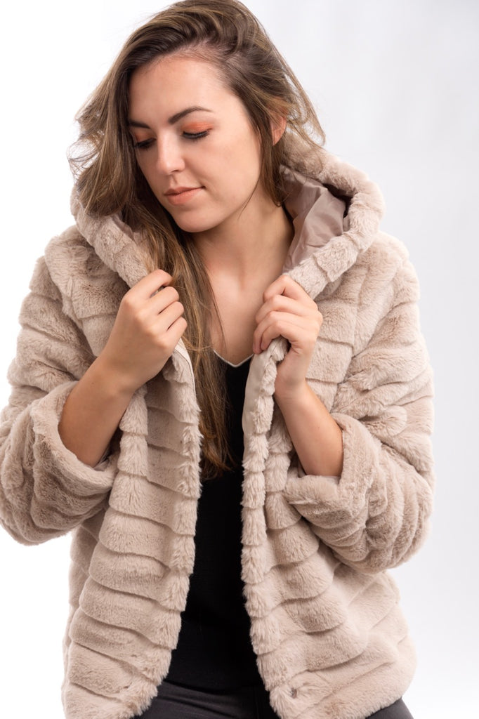 Beige Furry Jacket