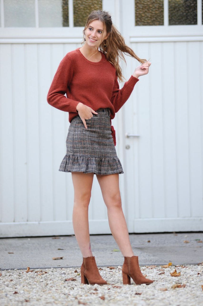 Jillian Checkered Skirt
