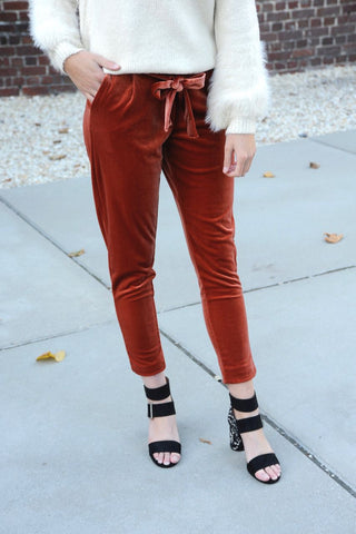 Redwood Velvet Pants