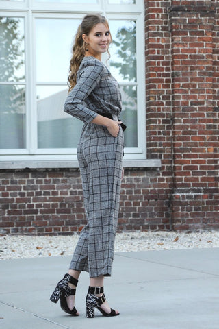 Miriam Checkered Jumpsuit