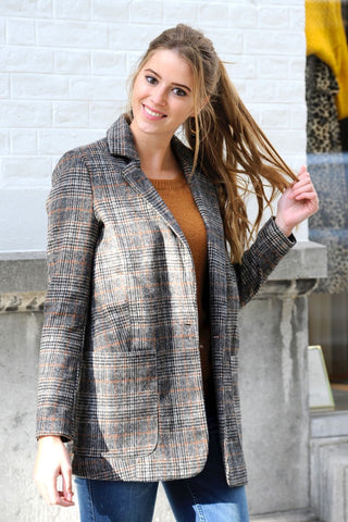 Jillian Checkered Blazer