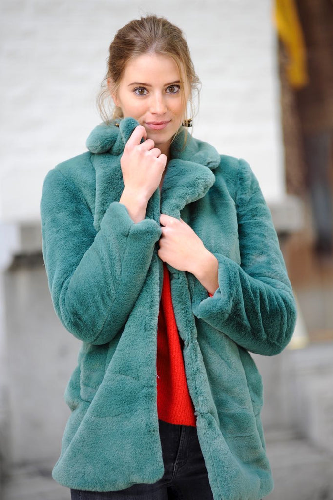 Green Teddy Coat