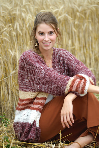 Elise Cardigan Bordeaux