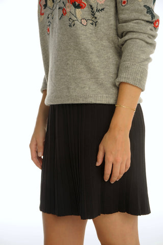 Black Knitted Skirt