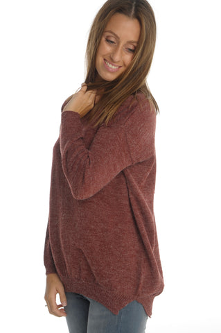 Oversized Bordeaux Sweater