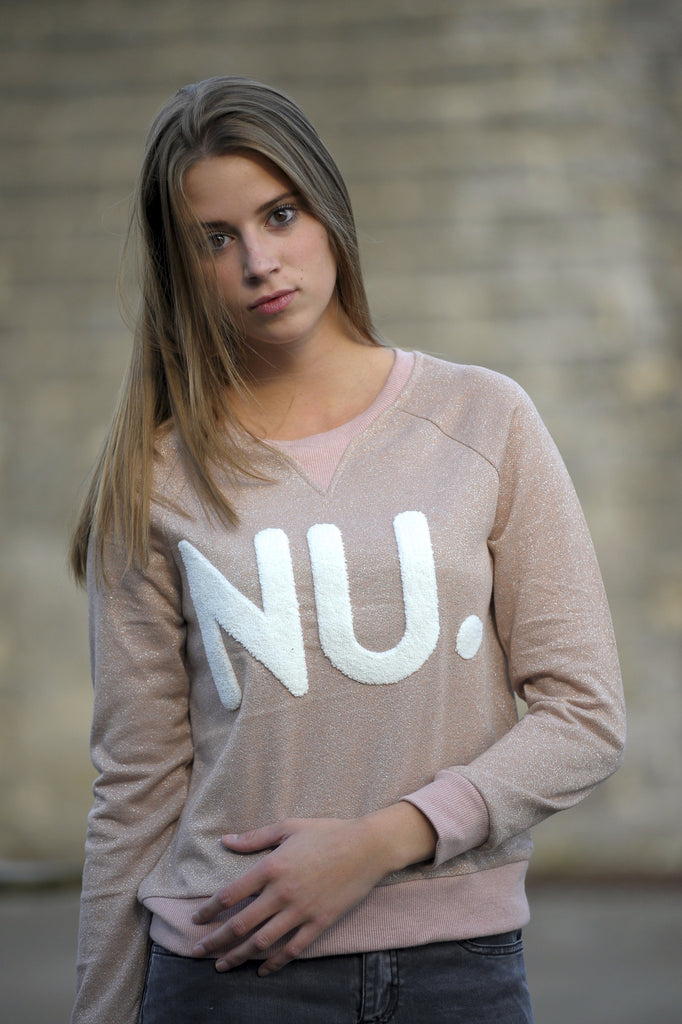 Glitter Sweater NU. - Rose