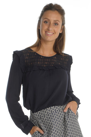 Marine Lace Blouse