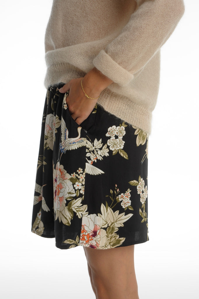 Black Flower Skirt