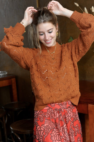 Mae Knit Sweater Camel