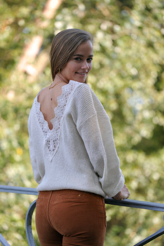 Good Lace Back Knit