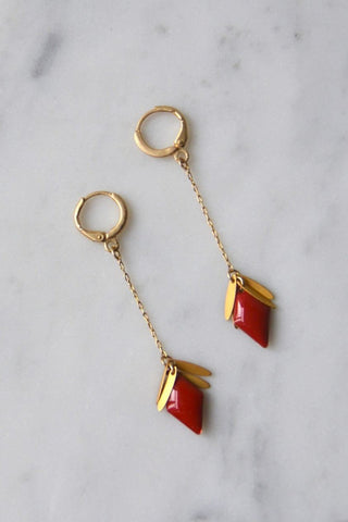 Earrings Red Dropdown
