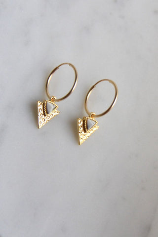 Earrings Marmer Triangle