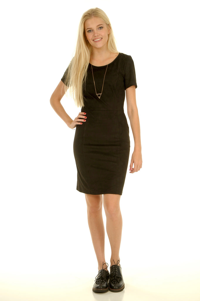 Little Black Suède Dress