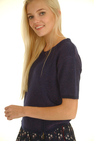Marine Knit Top