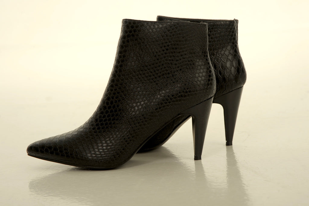 Snake Ankle Boots