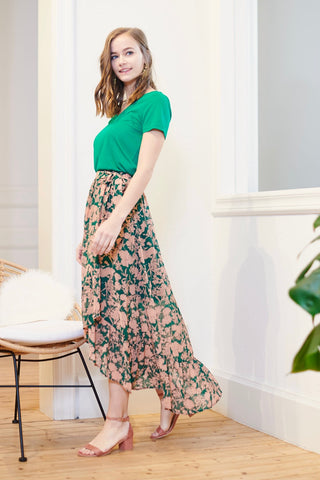 Green Flower Skirt