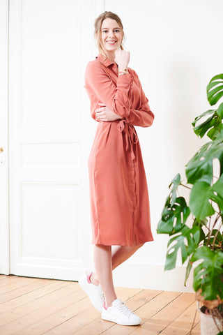Vilaia Shirt Dress Dusty Cedar