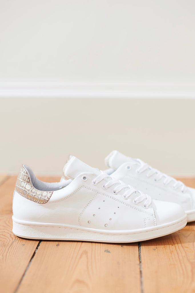 Anna Sneakers Croco Gold