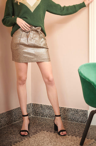 Edona Golden Skirt