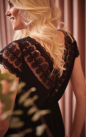 Marie Black Lace Dress