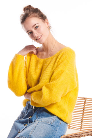 Nina Knit Sweater Yellow