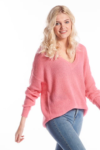 Viglory Fuxia Knit Sweater