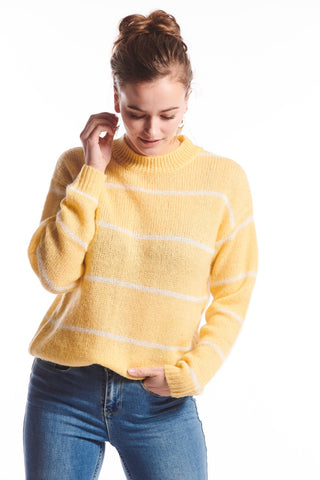 Gloria Knit Sweater Yellow