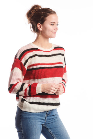 Nena Knit Sweater Red