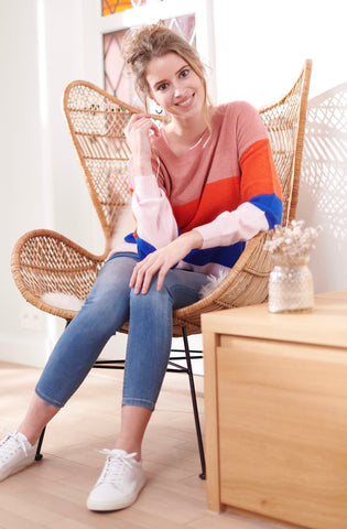 Vidisa Stripe Knit Top