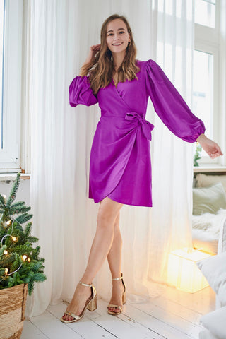 Abdon Dress Fuchsia