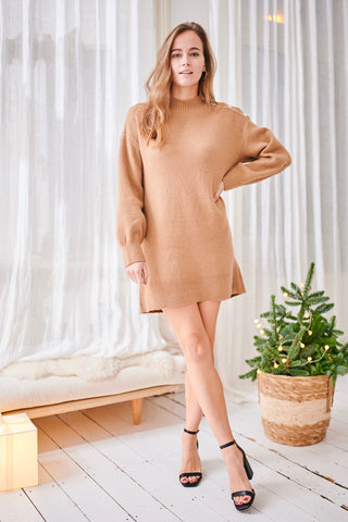 Cali Knit Dress Camel