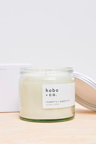 Raspberry + Peppercorn Soy Wax Candle