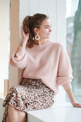 Dusty Knit Silver Pink
