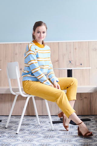 Nadege Knit Sweater Bleu