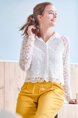 Visela White Lace Shirt