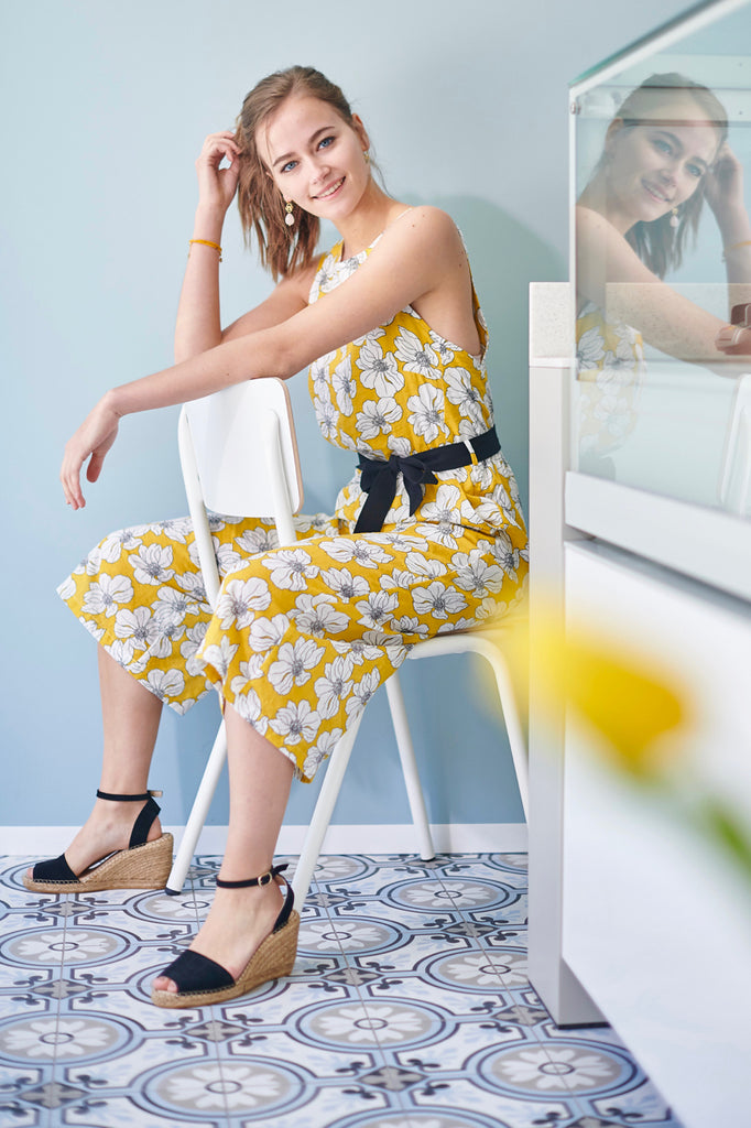 Yellow Flower Jumpsuit