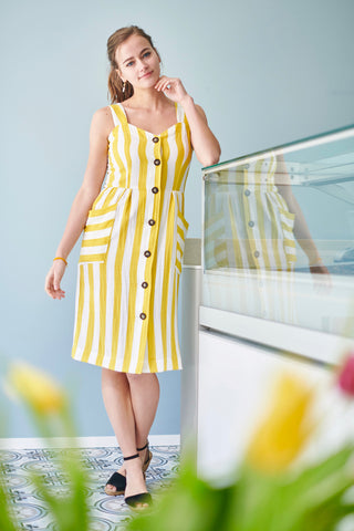 Aurela Summerdress Yellow