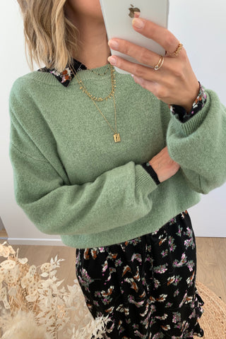 Leah Knit Green Milieu
