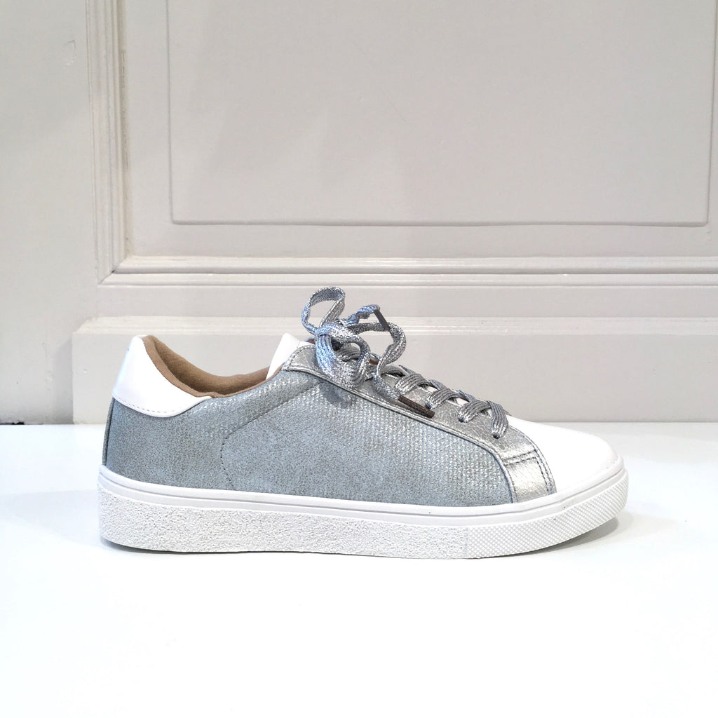 Soft Blue & Silver Sneakers