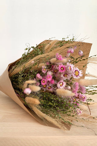 Dried Flowers Pink