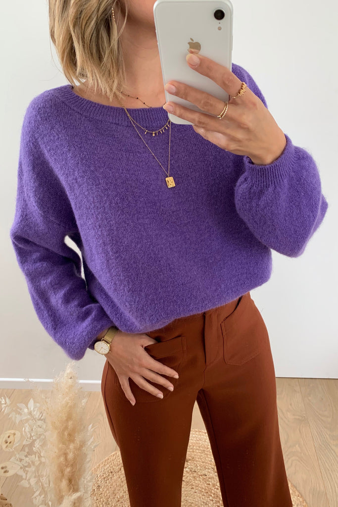 Leah Knit Purple