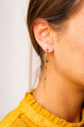 Bay Leaf Earrings Assymetric