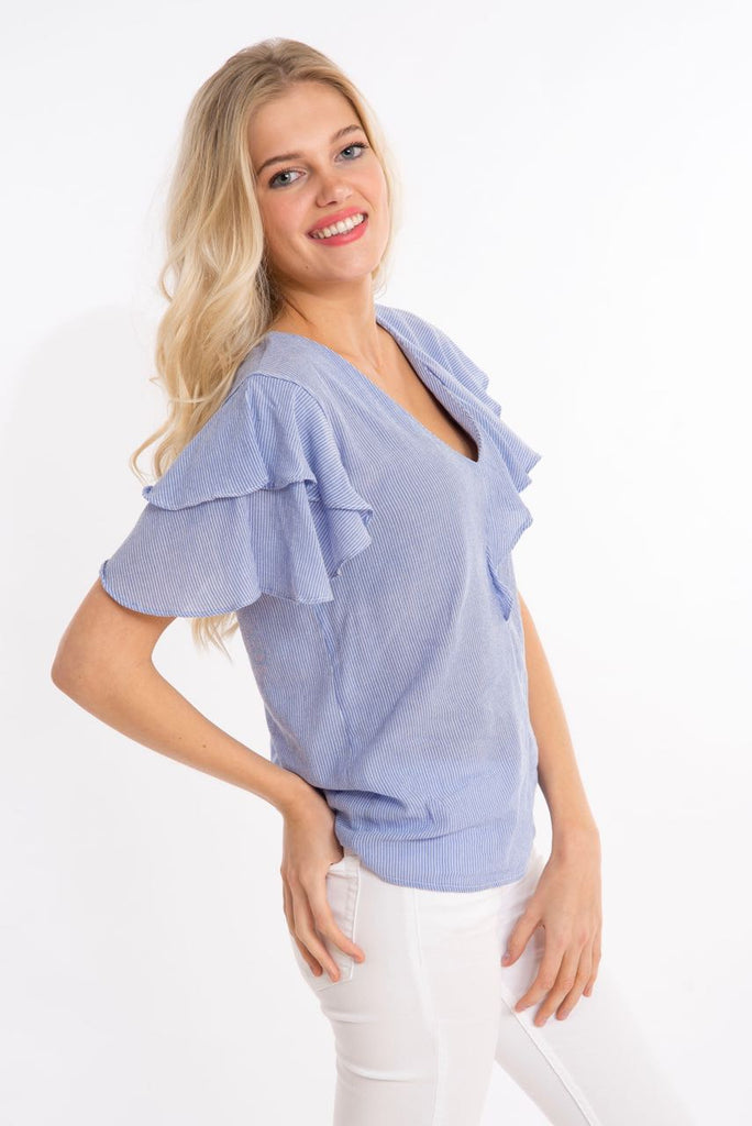 Vimulina Top Light Blue