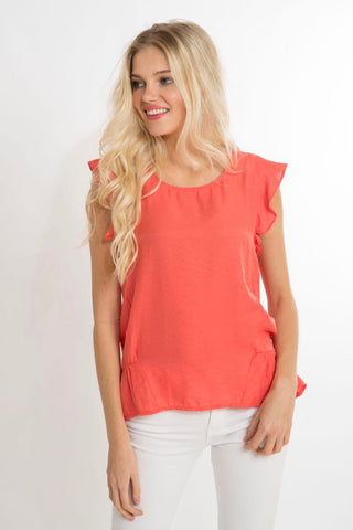 Spiced Coral Top