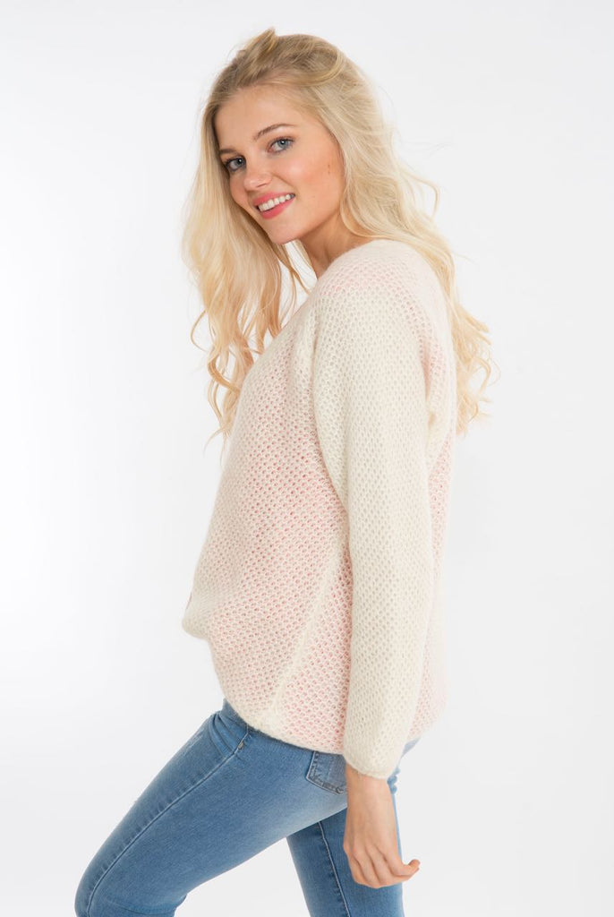 Ecru Knitted Cardigan