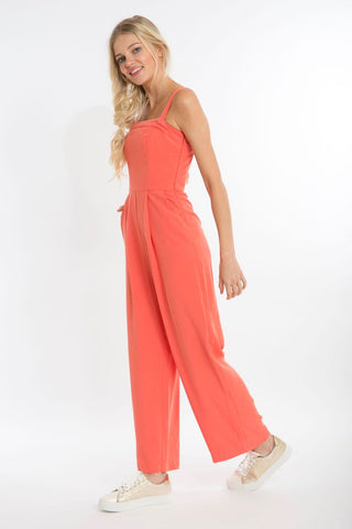 Spiced Coral Jumpsuit