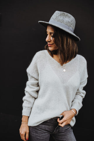 Grey Sparkle Knit Sweater