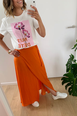 Kellan Maxi Skirt Burnt Orange